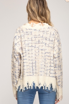 She and Sky LONG SLEEVE V NECK SWEATER - Alternate List Image