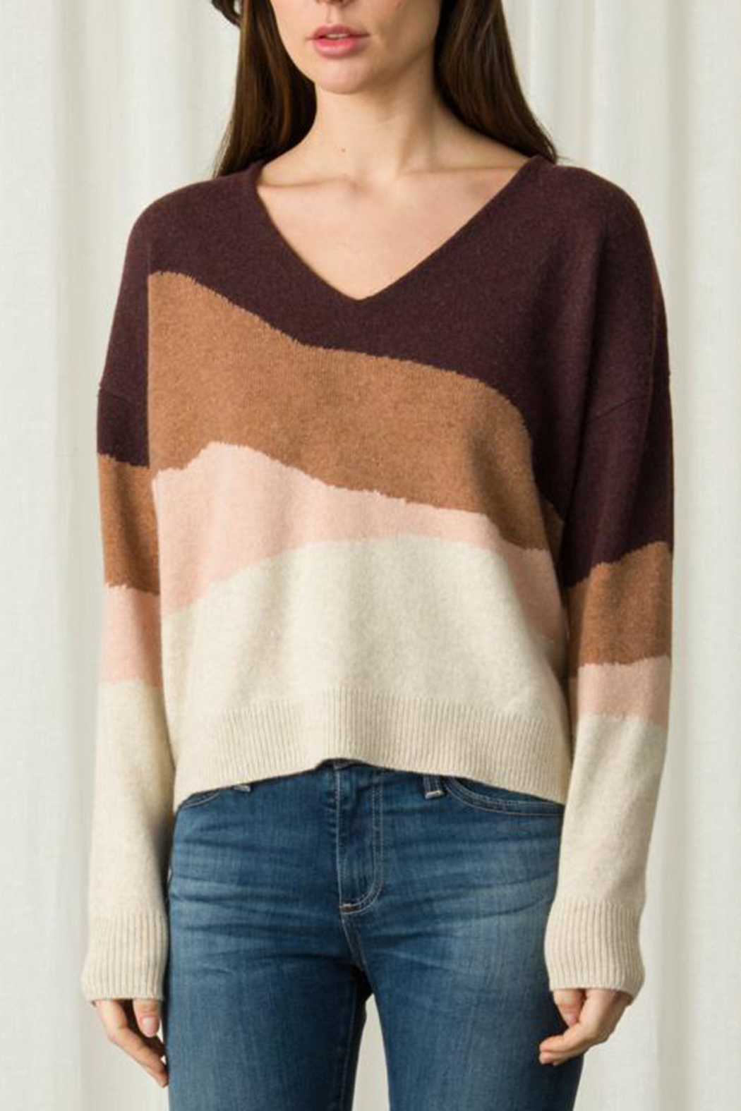 Margaret O'Leary LONG SLEEVE V NECK SWEATER - Front Cropped Image
