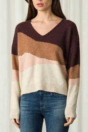 Margaret O'Leary LONG SLEEVE V NECK SWEATER - Front cropped