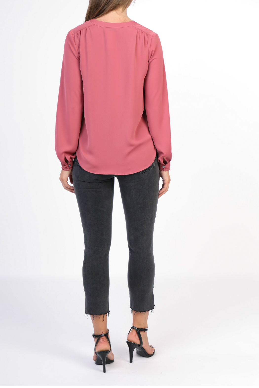 Current Air Long sleeve v-neck top - Front Full Image