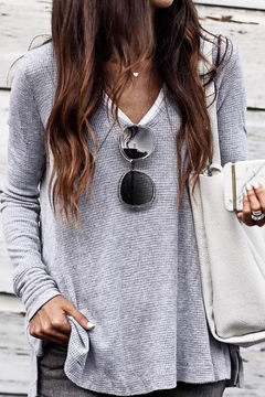 Mazik Long Sleeve V Neck Top - Product List Image
