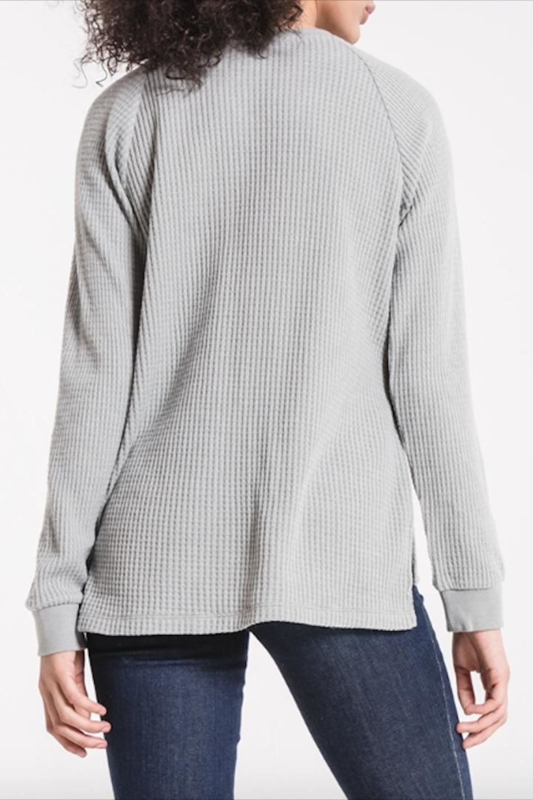 z supply Long-Sleeve Waffle Thermal - Side Cropped Image