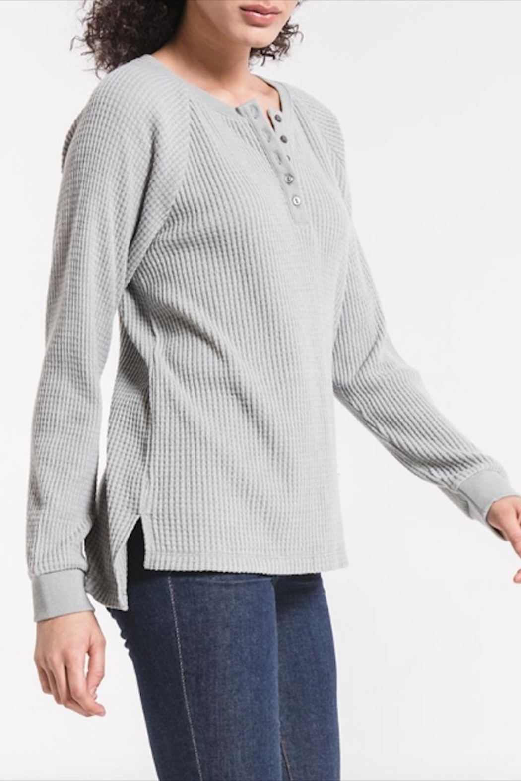z supply Long-Sleeve Waffle Thermal - Front Full Image