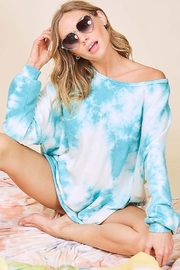 Fantastic Fawn Long Sleeve Washed Tie Dye French Terry Sweatshirt - Side cropped