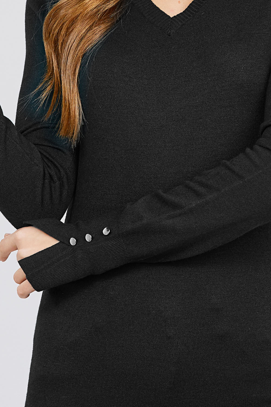 Active Basic Long Sleeve with Button Detail Sweater - Side Cropped Image