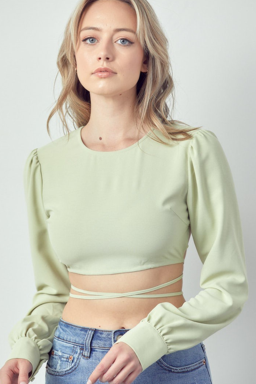 m.n.i Long Sleeve with Open Back - Front Full Image