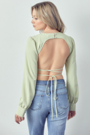 m.n.i Long Sleeve with Open Back - Front cropped