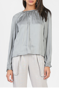 Current Air Long Sleeve Woven Top - Product List Image