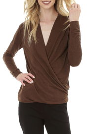 Bobi LONG SLEEVE WRAP FRONT TOP - Product Mini Image