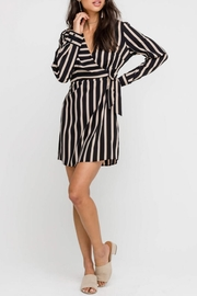 Lush Long-Sleeve Wrap Mini-Dress - Product Mini Image