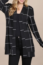 Riah Fashion Long-Sleeved-Open-Front Plaid Cardigan - Product Mini Image