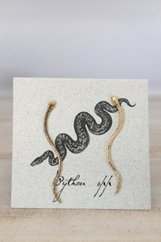 The Lovet Shop Long Snake Earrings - Product Mini Image