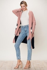 fashion on earth Long Striped Cardigan - Front cropped
