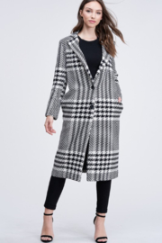 AAAAA FASHIONS Long Trench Houndstooth Coat - Product Mini Image