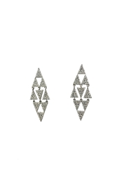 Lets Accessorize Long-Triangle Drop Earrings - Product Mini Image