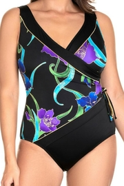 Longitude Swimwear Tassel Surplice Swimsuit - Front cropped