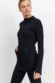 Mono B Longline All Over Ribbed Jacket - Product Mini Image