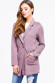 MONTREZ LONGLINE BLAZER CARDIGAN JACKET - Side cropped