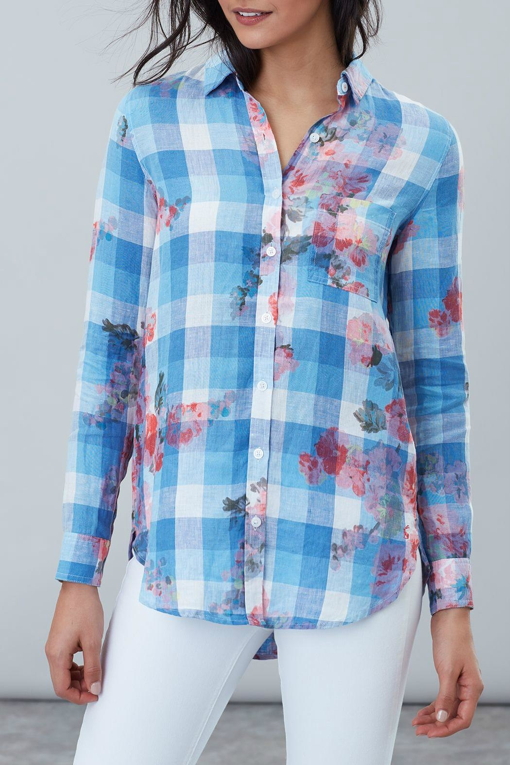 Joules Longline Linen Shirt - Side Cropped Image
