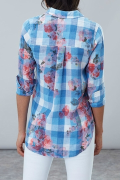 Joules Longline Linen Shirt - Alternate List Image