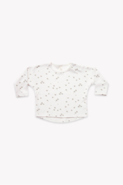 Quincy Mae Longsleeve Baby Tee in Ivory - Product Mini Image