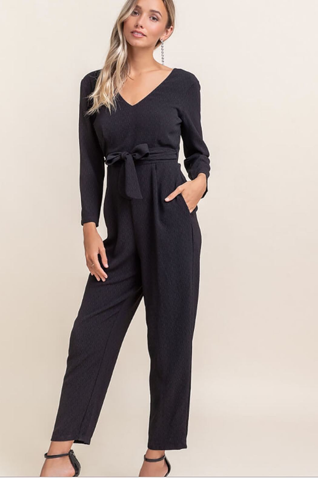 Lush  Longsleeve jumpsuit - Front Cropped Image