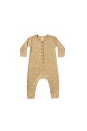Quincy Mae Longsleeve Jumpsuit - Honey Sun - Front cropped