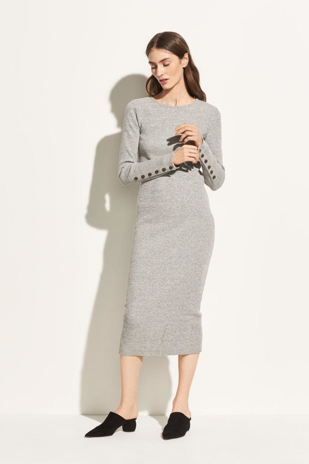 Vince Longsleeve Rib Dress - Main Image