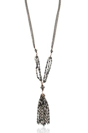 lonna & lilly Hematite Tassel Necklace-Set - Product Mini Image