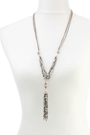 lonna & lilly Hematite Tassel Necklace-Set - Other