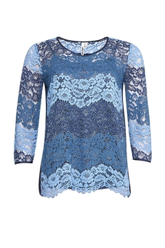 Loobies Story Lace Blue Top - Alternate List Image