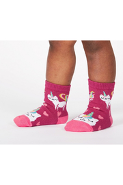 Sock it to me Look At Me Meow Toddler Crew Socks - Product Mini Image