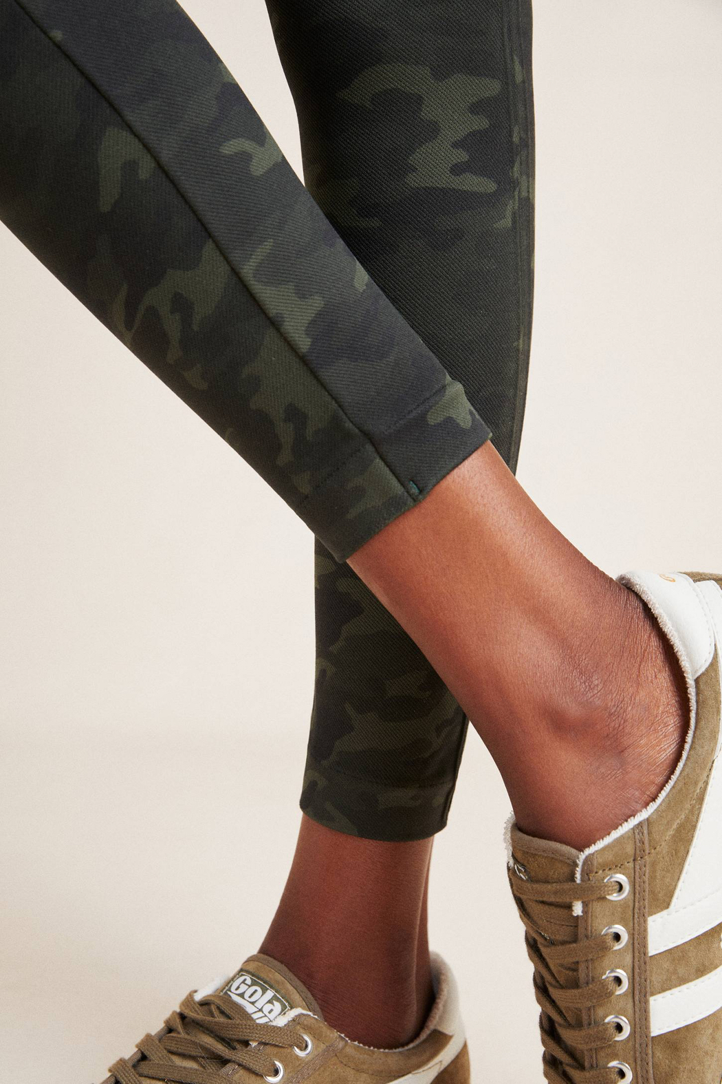 Spanx Look At Me Now Seamless Camo Leggings - Back Cropped Image