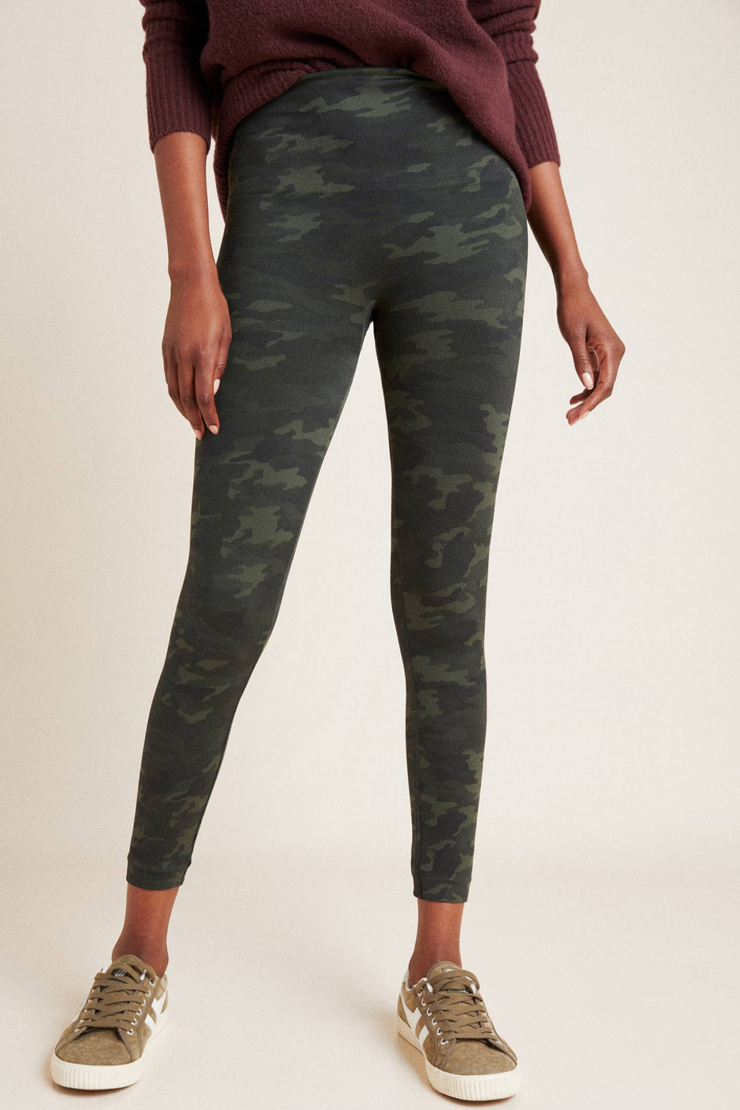 Spanx Look At Me Now Seamless Camo Leggings - Front Full Image