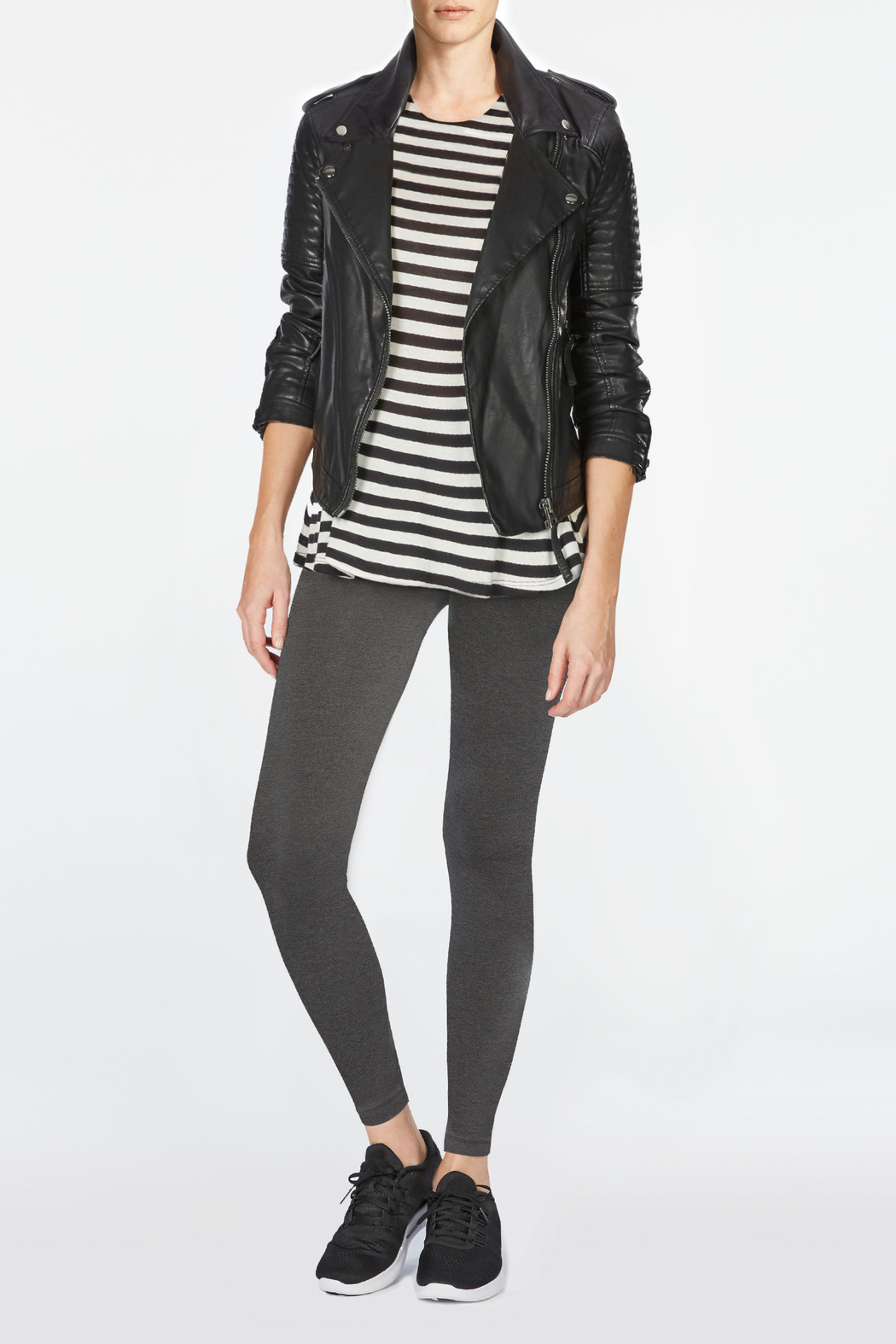 Spanx Look At Me Now Seamless Leggings - Back Cropped Image