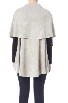 Look by M Faux Suede Shawl Vest - Alternate List Image