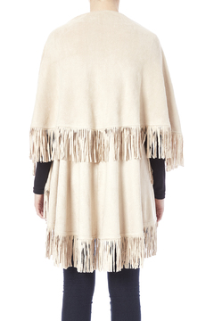 Look by M Faux Suede Fringe Vest - Alternate List Image