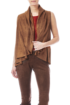 Look by M Faux Suede Shawl-Vest - Product List Image