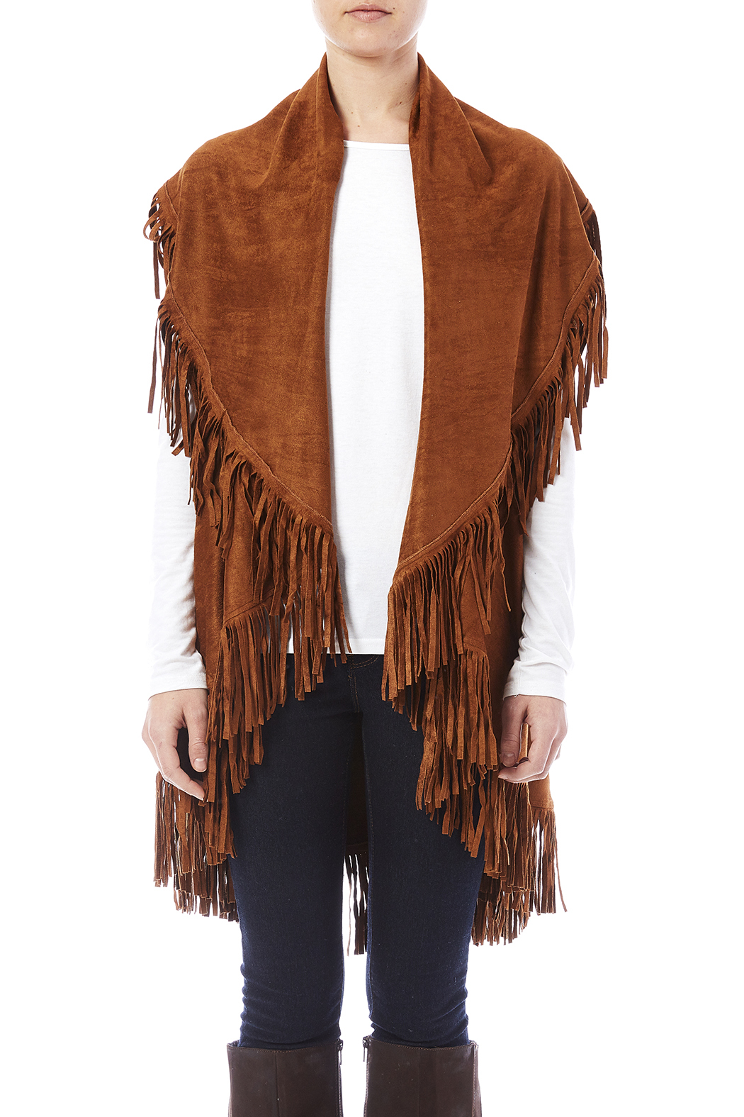 Look by M Faux Suede Shawl - Side Cropped Image
