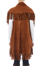 Look by M Faux Suede Shawl - Back cropped