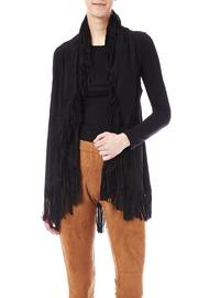 Look by M Faux Suede Shawl - Front cropped