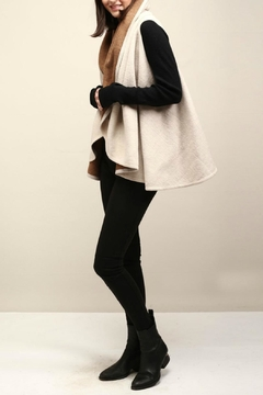 Look by M Two Tone Shawl Vest - Alternate List Image