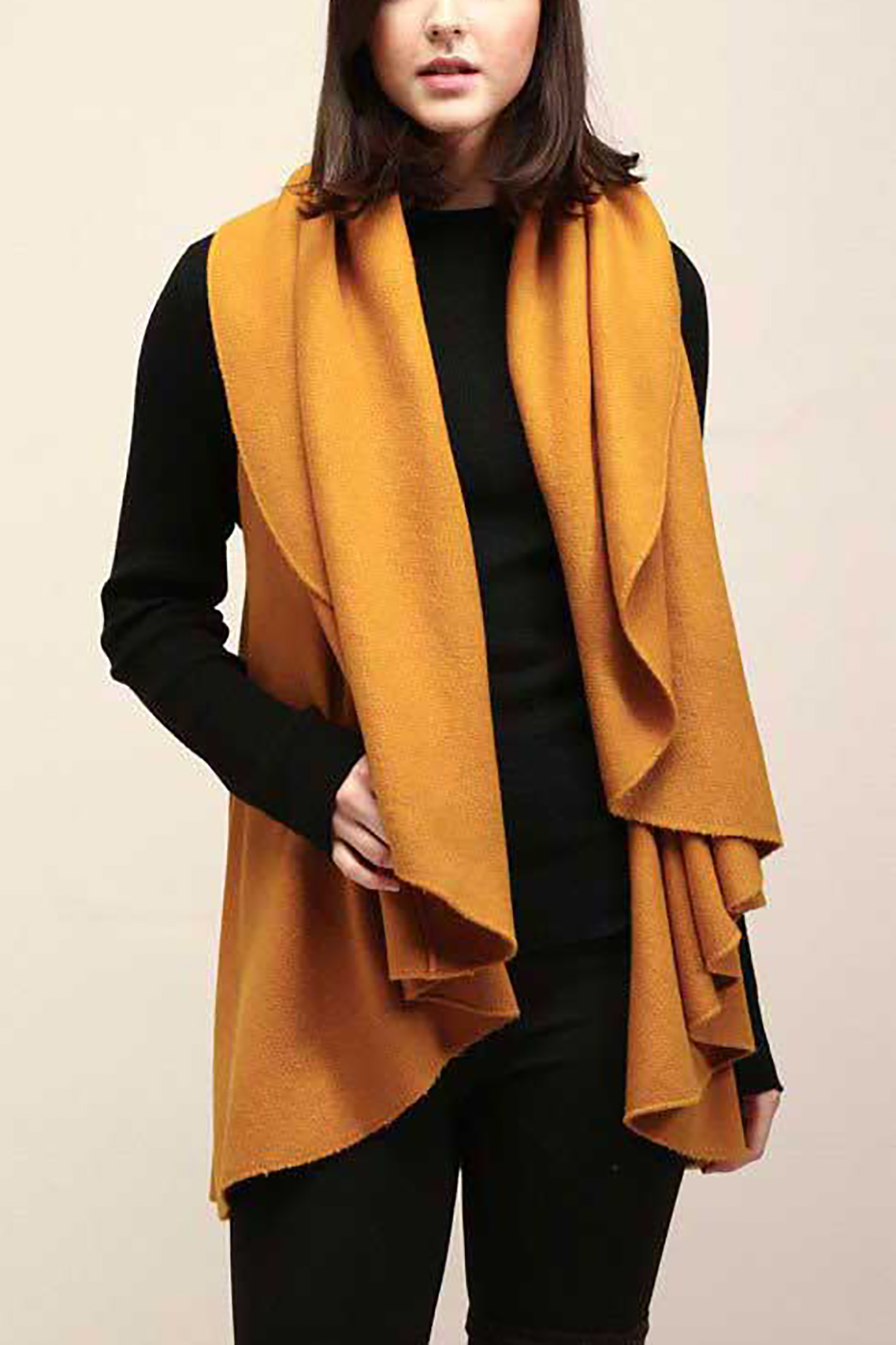 Look by M Basic Shawl Vest - Side Cropped Image
