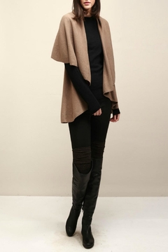 Shoptiques Product: Basic Taupe Shawl Vest