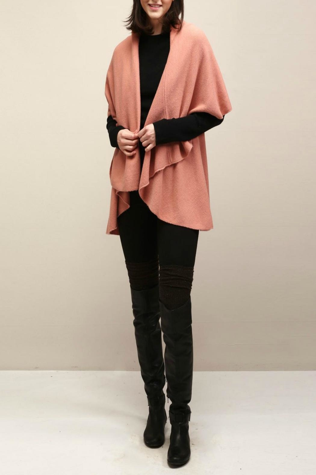 Look by M Basic Coral Shawl Vest - Main Image