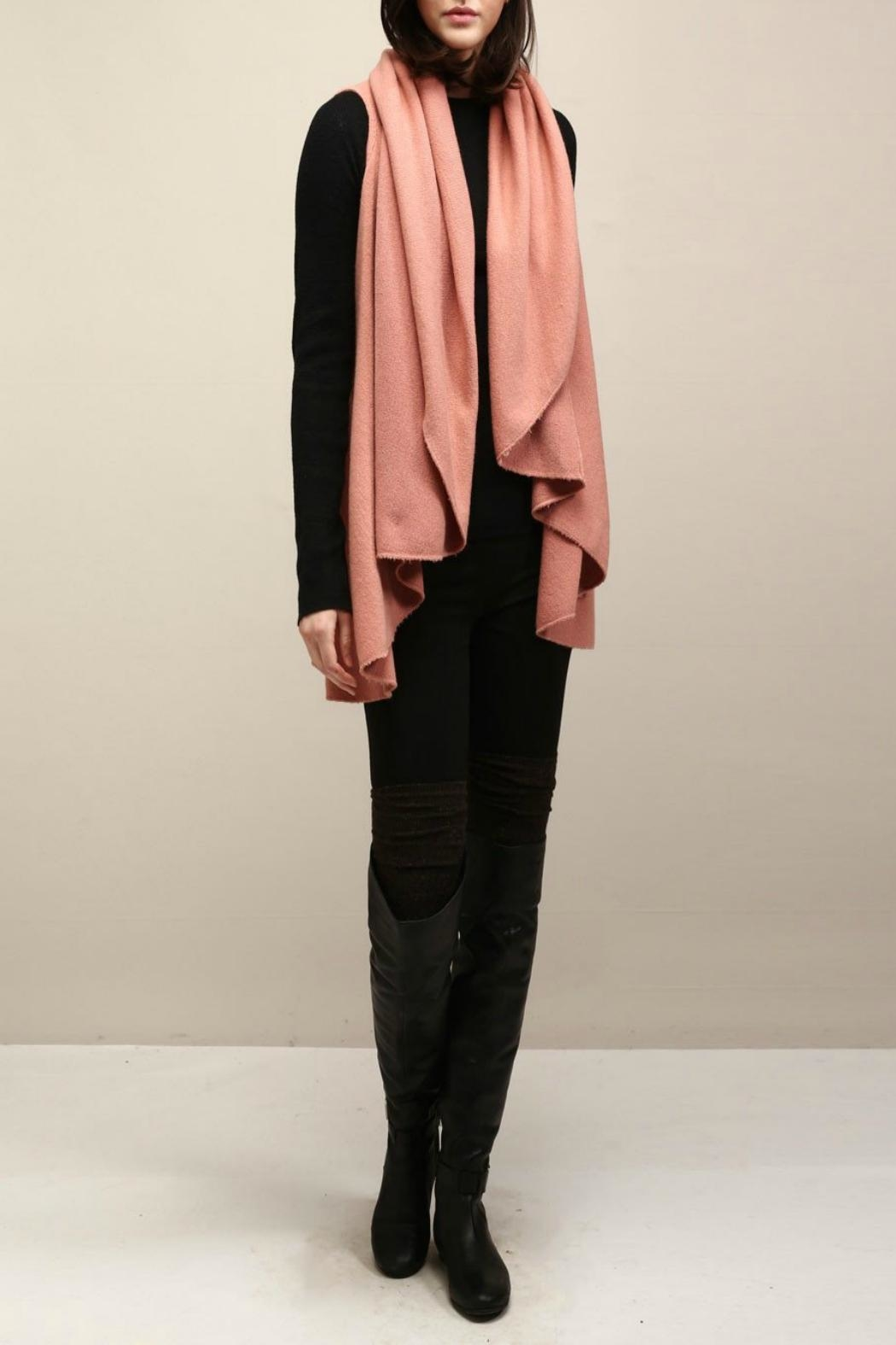 Look by M Basic Coral Shawl Vest - Side Cropped Image