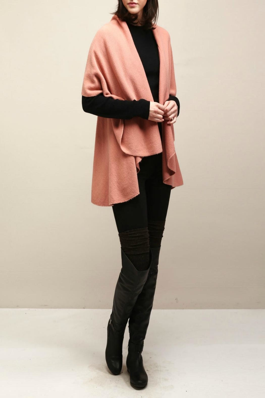 Look by M Basic Coral Shawl Vest - Front Full Image