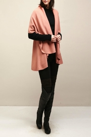 Look by M Basic Coral Shawl Vest - Front full body