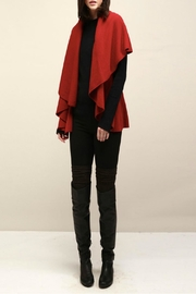 Look by M Basic Red Shawl Vest - Front cropped