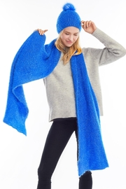 Look by M Blue Shimmer Scarf - Front cropped